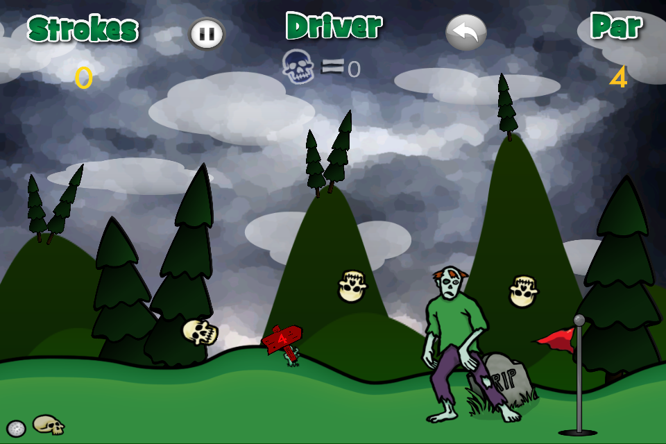 Screenshot Ghoulish Golf for iPhone